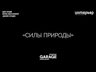 Лекция Марии Савостьяновой в Музее «Гараж». Силы природы
