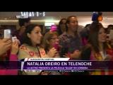 Natalia Oreiro charl mano a mano con Silvia Prez Ruiz en la avant premiere de la pelcula sobre la vida de Gilda.