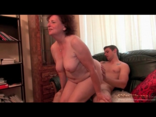Chubby granny chick on his dick to ride - granny porn