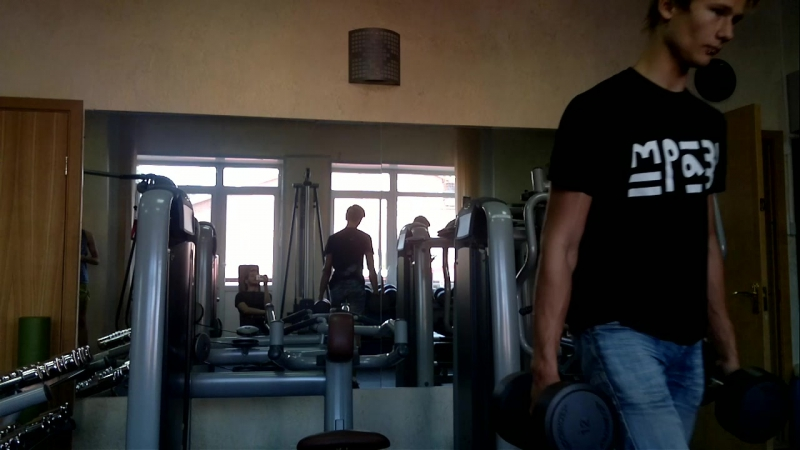 Once again Dima and Emil in the gym.