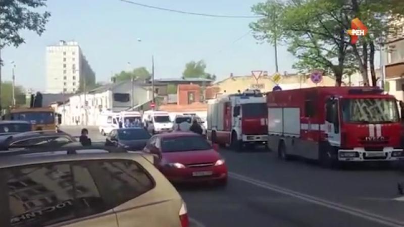 Первое видео с места пожара в сауне в центре Москвы