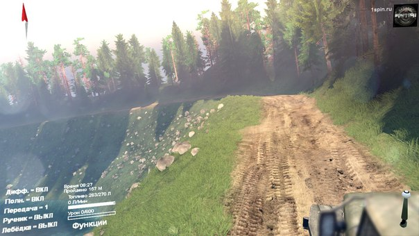 Карта «Черный прижим» для Spintires - Скриншот 1