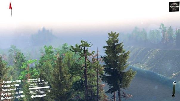 Карта «Черный прижим» для Spintires - Скриншот 2