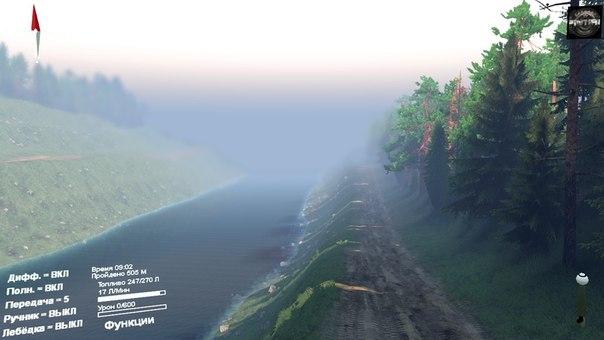 Карта «Черный прижим» для Spintires - Скриншот 3