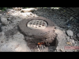 #Primitive Technology- Termite clay kiln pottery