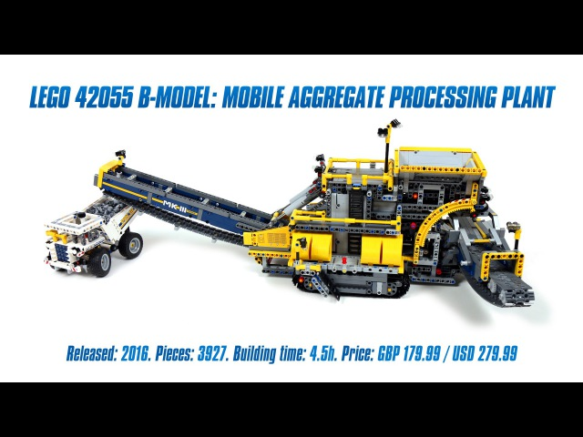 LEGO Technic 42055 B-model Mobile Aggregate Processing Plant Speed Build Review