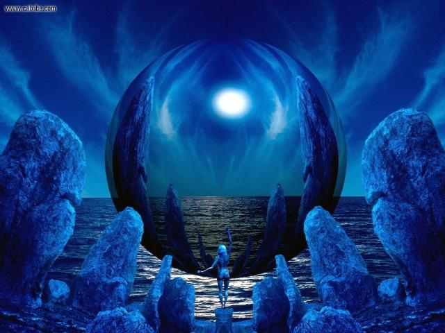 МАГИЯ СИНЕГО ЦВЕТА... Yakuro - Dark blue color of sky... Студия Марины Антиповой