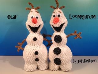 Олаф амигуруми из резинок New Olaf Loomigurumi Amigurumi Frozen Snowman Part 2 - Rainbow Loom Band Crochet Hook Only