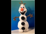 Олаф из резинок лумигуруми New Olaf Loomigurumi Amigurumi Frozen Snowman Part 1 - Rainbow Loom Band Crochet Hook Only