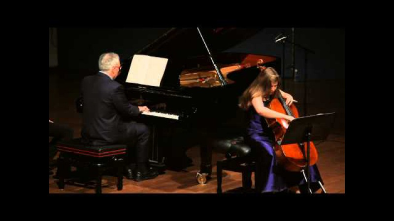 Alisa Weilerstein, cello, Ilan Rechtman, piano, Brahms E minor cello sonata no. 1, Op. 38