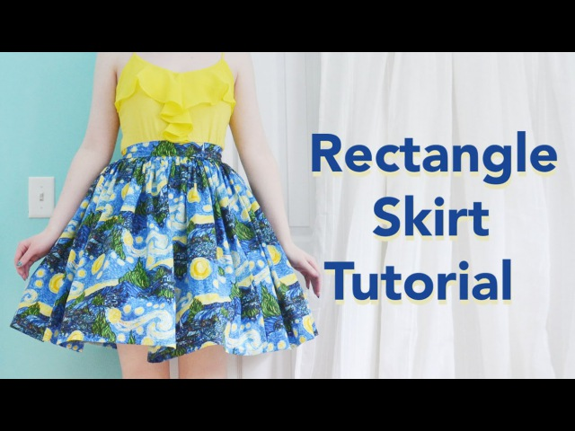 Rectangle Skirt Tutorial / Starry Night Skirt