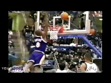 Rookie Kobe Bryant Tries to Copy Michael Jordan's Famous Missed Free Throw Dunk!