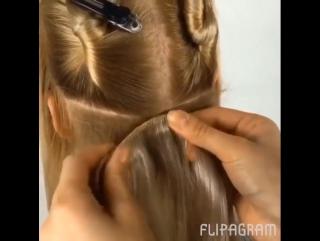 Крепление волос на заколках