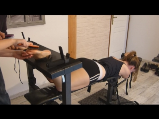 Frenchtickling Helpless Maewen is Tickled to Tears Bare Feet Ticking