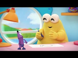 Развивающий мультфильм Каракули. Уроки рисования для детей_ Как нарисовать карандашом улитку