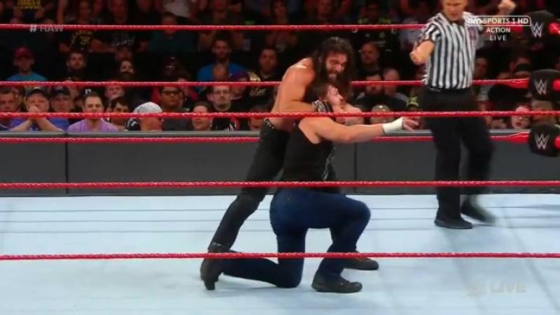 [Crossface] Элайас Сэмсон против Дина Эмброуза - RAW 22.05.2017