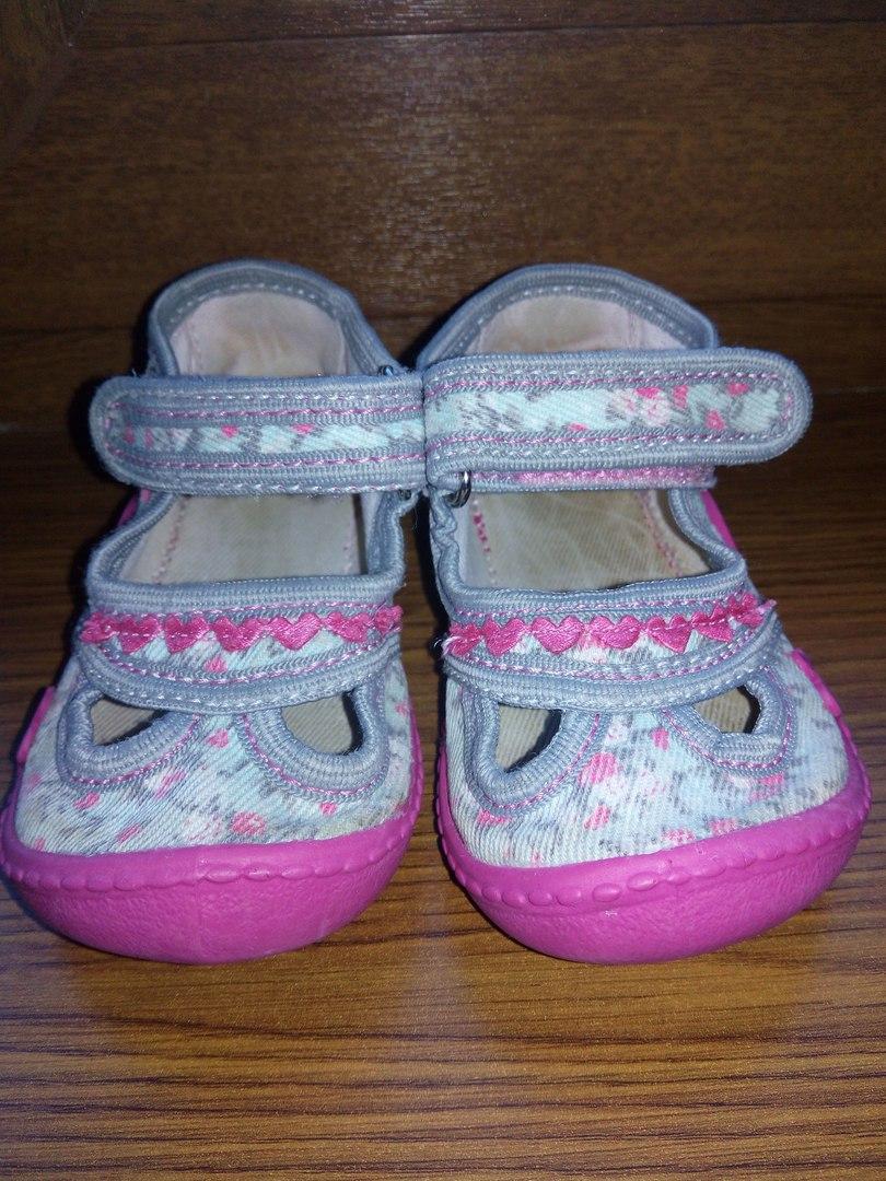 #05235_дет_обувь Очень удобные текстильные мокасины VIGGAMI, на ножку 12,5 см. Липучки держат хорошо. Состояние видно �...