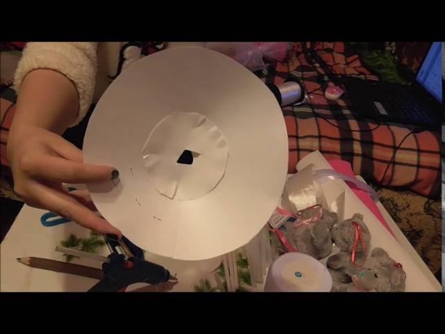 Как сделать букет из игрушек, что б не приклеивать игрушку к каркасу
