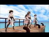 【艦これMMD】メグメグファイアー☆エンドレスナイト 【金剛4姉妹】
