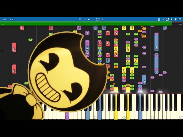 IMPOSSIBLE REMIX - Bendy And The Ink Machine Song - Build Our Machine - Piano Cover - DA Games