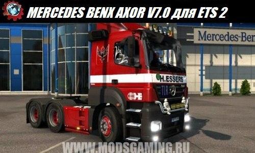 Euro Truck Simulator 2 download mod truck MERCEDES BENX AXOR V7.0