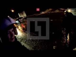 Первое видео с места ДТП, в котором пострадал Николай Караченцов