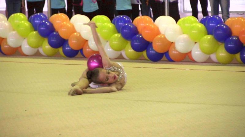 54 - 4 - Бехтир Надежда 2006 г.р. - мяч - 2 место - Чемпионат Запорожской области - 20-22 мая 2016