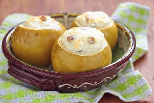 Яблоки печеные в духовке с творогом рецепт пошагово