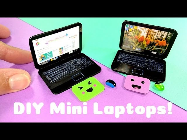 DIY Realistic Miniature Laptop - Dollhouse DIY