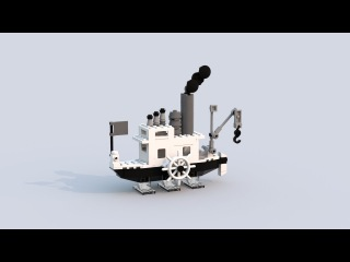Steamboat Willie - Mickey Mouse - Lego Ideas Project