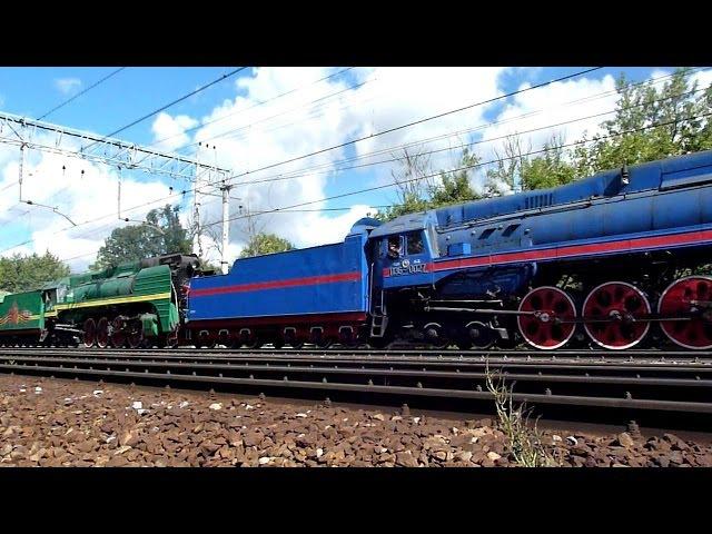 Steam Locomotives Два Паровоза П36 - 0120 и 0027 10, 13 и 16 августа 2016