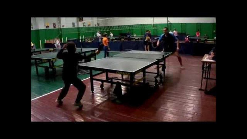 Настільний теніс: товариський турнір/Сало-Напірко\кращі моменти гри...