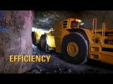 Разработка месторождения подземным способом (Cat Underground Hard Rock Mining Vehicles In Action)
