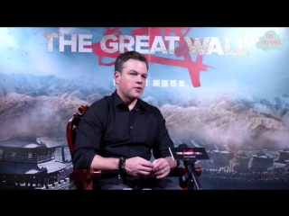161220 Matt Damon Once Again Compliments Luhan on His Acting in《长城》The Great Wall