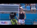 Match point  Genie Bouchard vs Dominika Cibulkova 6-4 6-3 #SydneyTennis #R2