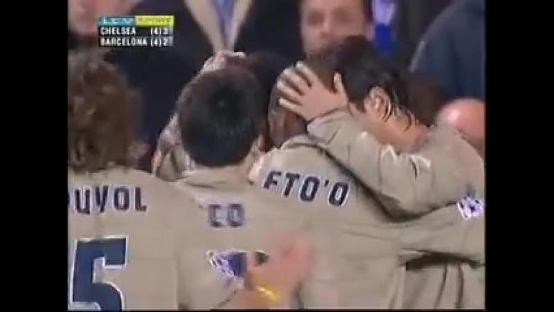 Ronaldinho Goal for Barcelona v Chelsea at Stamford Bridge in 2005