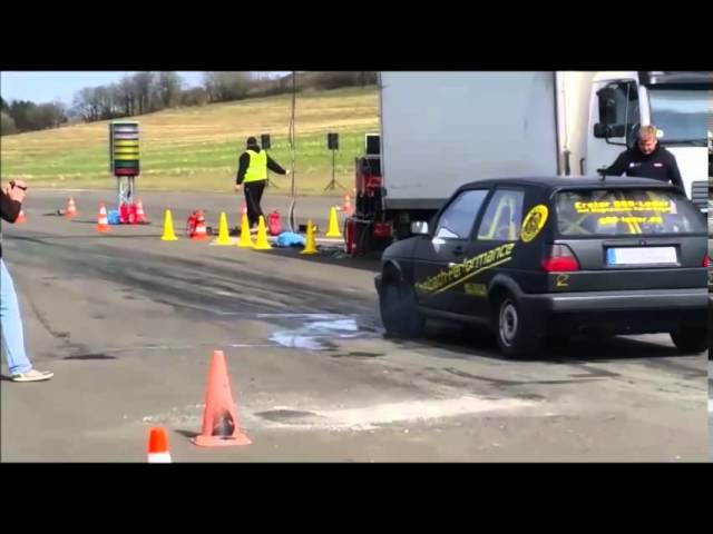 EFR 1/4 Meile in Meschede Golf 2 G65 Mk2 Theibach-Performance