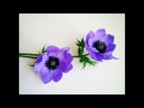 How To Make Anemone Flower From Crepe Paper - Craft Tutorial