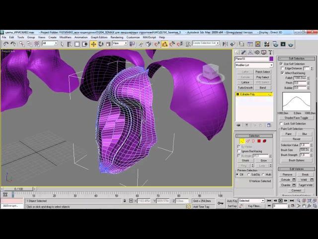3D Max, визуализация интерьеров. Моделирование цветка - ириса в 3D Max - часть 1