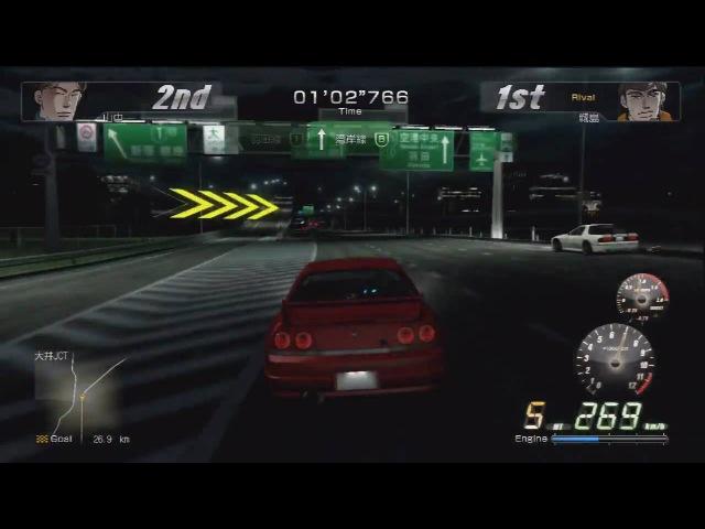 Wangan Midnight PS3 - HD 720P - R33 Skyline Vs RX7 FC