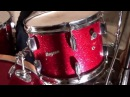 Steve Maxwell Vintage Drums - Rogers 22/13/16 Drum Set In Red Sparkle!