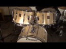 Steve Maxwell Vintage Drums - Premier 22/13/14/16 Resonator Series Drum Set - PS Silver