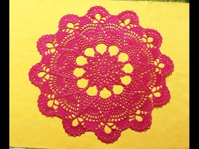 Салфетка крючком Звезда_Часть 1_Doily crochet Star, crochet hook for beginners.