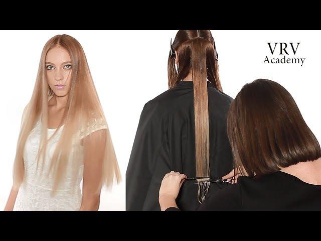 Как подстричь ровную линию ✂ Стрижка одной длины ✂ Стрижка на длинные волосы