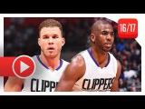 Chris Paul & Blake Griffin Full Highlights vs Jazz (2016.10.30) - TOO EASY!