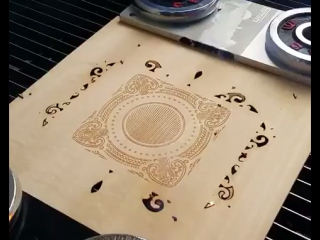 High-speed wooden board engraving and cutting as crafts by STYLECNC co2 laser marking machine
