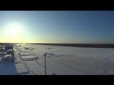 Взлёт Як-40, аэродром в лесу.