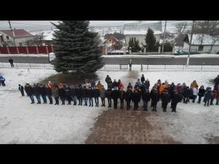 Стройовий вишкіл учнів 10-11 класів Новояричівської ЗОШ