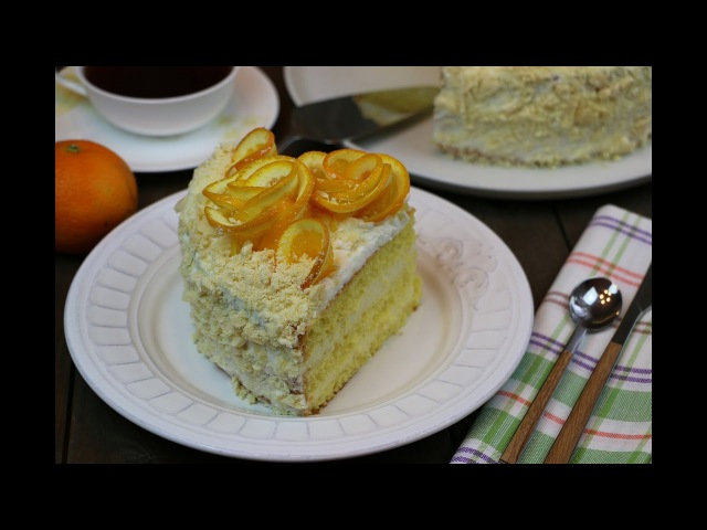 Апельсиновый торт очень простой рецепт ✧ Orange Cake English Subtitles