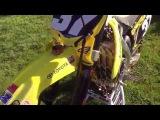 A description of Phil Nicolettis Yoshimura/Autotrader/JGRMX Suzuki RM-Z250